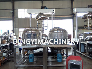 High Viscosity Vacuum Emulsifying Mixer Lotion Making Machine 15Kw Motor
